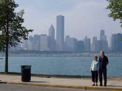 Mum and dad + chicago skyline